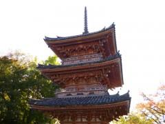 「秀吉の一夜の塔」と呼ばれる三重の塔