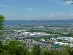 三川合流のパワーが集まる旗立松・展望台