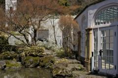本館と夢の箱をつなぐガラス張りの廊下(かつての蘭温室)